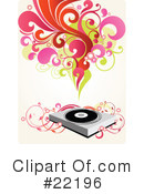 Record Player Clipart #22196 by OnFocusMedia