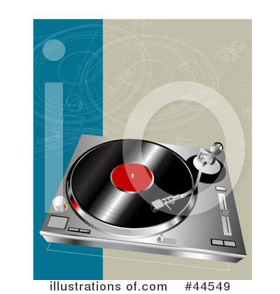 Royalty-Free (RF) Record Player Clipart Illustration by toonster - Stock Sample #44549