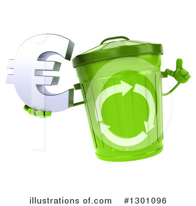Recycle Bin Character Clipart #1301096 by Julos