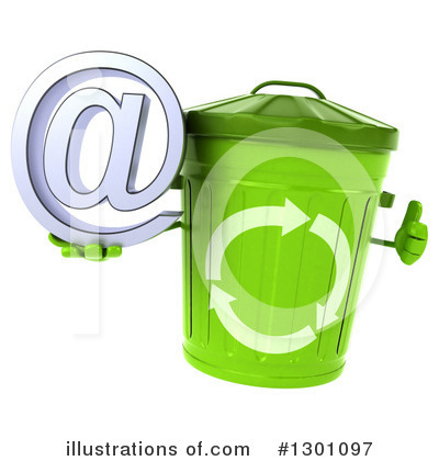 Recycle Bin Character Clipart #1301097 by Julos
