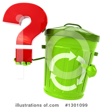 Recycle Bin Character Clipart #1301099 by Julos