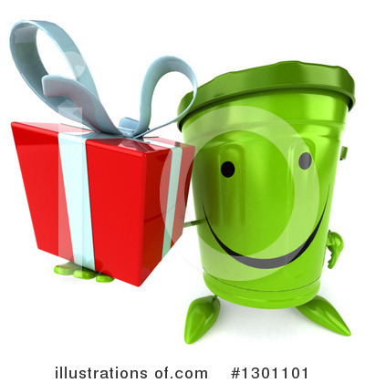 Recycle Bin Character Clipart #1301101 by Julos