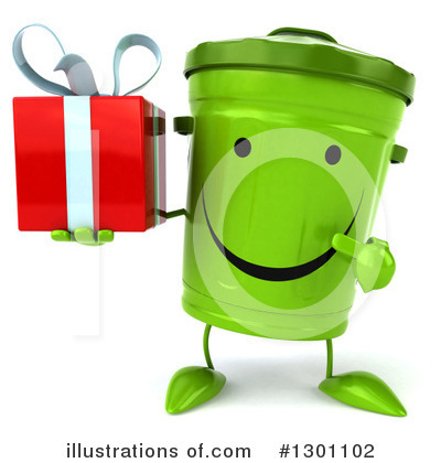 Recycle Bin Character Clipart #1301102 by Julos