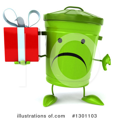 Recycle Bin Character Clipart #1301103 by Julos
