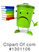 Recycle Bin Character Clipart #1301106 by Julos