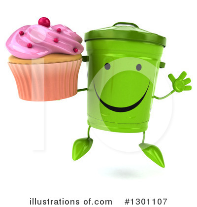 Recycle Bin Character Clipart #1301107 by Julos