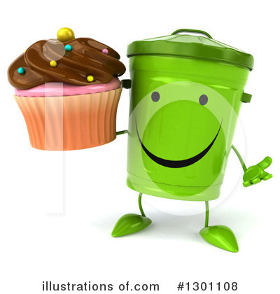 Recycle Bin Character Clipart #1301108 by Julos