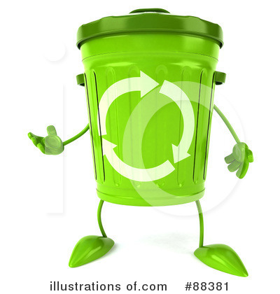 Recycle Bin Clipart #88381 by Julos