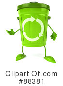 Royalty-Free (RF) recycle bin character Clipart Illustration #88381