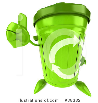 Royalty-Free (RF) Recycle Bin Character Clipart Illustration by Julos - Stock Sample #88382