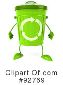 Recycle Bin Character Clipart #92769 by Julos