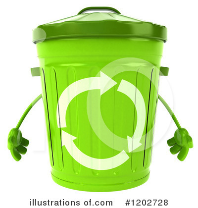 Recycle Bin Character Clipart #1202728 by Julos