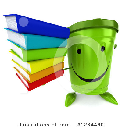 Recycle Bin Character Clipart #1284460 by Julos