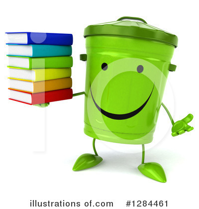 Recycle Bin Character Clipart #1284461 by Julos