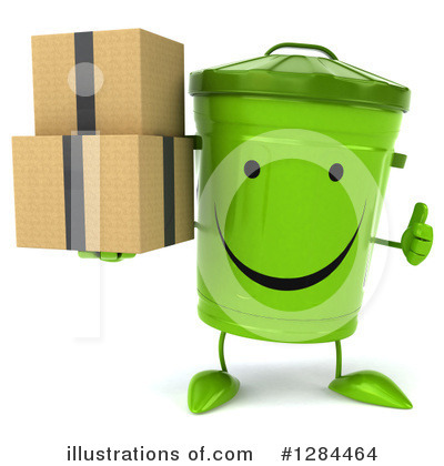 Recycle Bin Character Clipart #1284464 by Julos