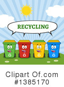 Recycle Bin Clipart #1385170 by Hit Toon