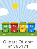 Recycle Bin Clipart #1385171 by Hit Toon