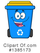 Recycle Bin Clipart #1385173 by Hit Toon