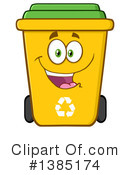 Recycle Bin Clipart #1385174 by Hit Toon