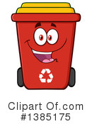 Recycle Bin Clipart #1385175 by Hit Toon