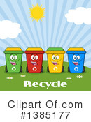 Recycle Bin Clipart #1385177 by Hit Toon