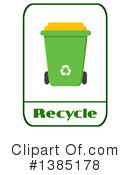 Recycle Bin Clipart #1385178 by Hit Toon