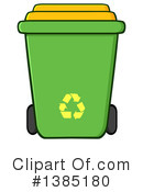 Recycle Bin Clipart #1385180 by Hit Toon