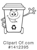 Royalty-Free (RF) Recycle Bin Clipart Illustration #1412395