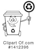 Royalty-Free (RF) Recycle Bin Clipart Illustration #1412396