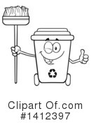 Royalty-Free (RF) Recycle Bin Clipart Illustration #1412397