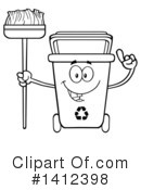 Royalty-Free (RF) Recycle Bin Clipart Illustration #1412398