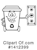 Royalty-Free (RF) Recycle Bin Clipart Illustration #1412399