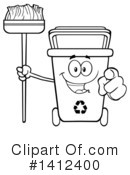Royalty-Free (RF) Recycle Bin Clipart Illustration #1412400