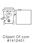 Royalty-Free (RF) Recycle Bin Clipart Illustration #1412401