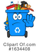 Recycle Bin Clipart #1634408 by Hit Toon