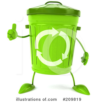 Recycle Bin Character Clipart #209819 by Julos