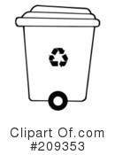 Royalty-Free (RF) Recycle Clipart Illustration #209353