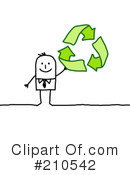Royalty-Free (RF) Recycle Clipart Illustration #210542