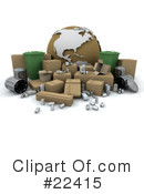 Royalty-Free (RF) recycle Clipart Illustration #22415