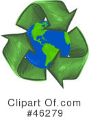 Royalty-Free (RF) recycle Clipart Illustration #46279