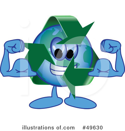 Recycle Mascot Clipart #49630 by Toons4Biz