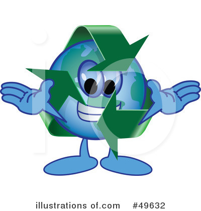 Recycle Mascot Clipart #49632 by Toons4Biz