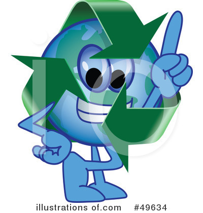 Recycle Mascot Clipart #49634 by Toons4Biz