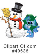 Royalty-Free (RF) recycle mascot Clipart Illustration #49636