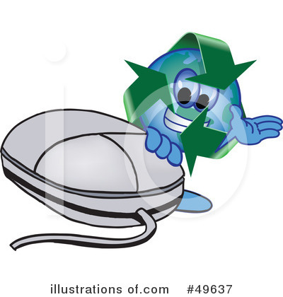 Royalty-Free (RF) Recycle Mascot Clipart Illustration by Toons4Biz - Stock Sample #49637