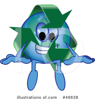 Recycle Mascot Clipart #49638 by Toons4Biz