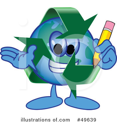 Recycle Mascot Clipart #49639 by Toons4Biz