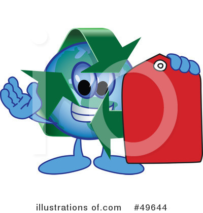 Recycle Mascot Clipart #49644 by Toons4Biz