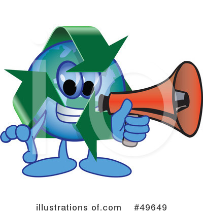 Recycle Mascot Clipart #49649 by Toons4Biz