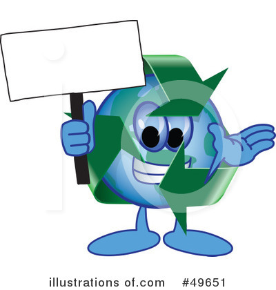 Recycle Mascot Clipart #49651 by Toons4Biz